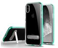 transparent cases hard bumper 3 in 1 metal stand for iphone X transparent case tpu, for iPhone X case cover