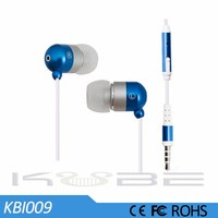 New stylish latest design for cell phone in ear stereo metal earphone