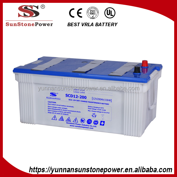 JIS Standard Dry Charged Battery 12v 50ah Automotive Car Battery