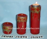 Ceramic Red Candle Stand