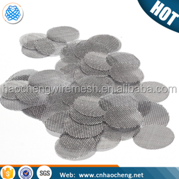 Hot sale smoke cigarettes metal wire mesh filter disc smoking pipe screens