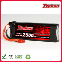 11.1V 2500mAh 3S 25C rc li-ion lipo Battery for RC Helicopter Airplane