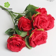 collection valentine artificial golden smile flower/fake rose flowers