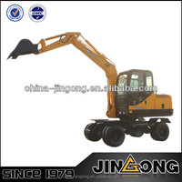 mini wheel excavator JGM907L with 0.25 cub meter bucket capacity