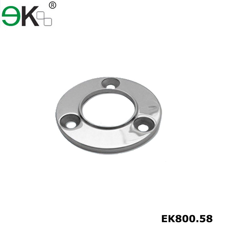 Stainless steel handrail fitting round porch post base plate