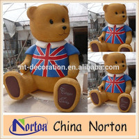 For Advertising Display Fiberglass Bear Statue cartoon Animal Sculpture NTRS-CS309R