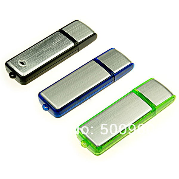 Factory Price Toshiba Chips ABS USB With Custom Logo Silver USB with Plastic Edge USB Stick