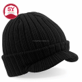 PEAKED BEANIE 100% Soft-Feel Acrylic Knitted cap for outdoor and winter wear