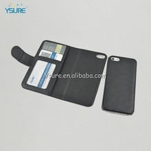 Black Detachable Magnet Mobile Phone Wallet Case for iphone5 5s