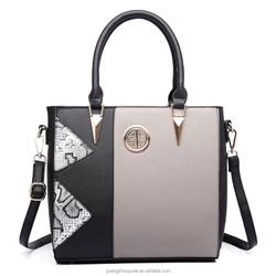 LT1654 2018 NEW ARRIVAL MISS LULU SPLIT FRONT SNAKE PRINT TOTE BAG GUANGZHOU BAG PU HANDBAG FACTORY PRICE DESIGNER BAG