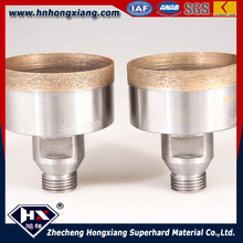 100 mm sintered metal sharpening hole saw glass diamond drill bit