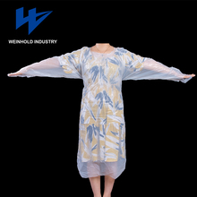 Eco- friendly Disposable CPE isolation gown manufacturer ealth Protection Blood Proof and waterproof