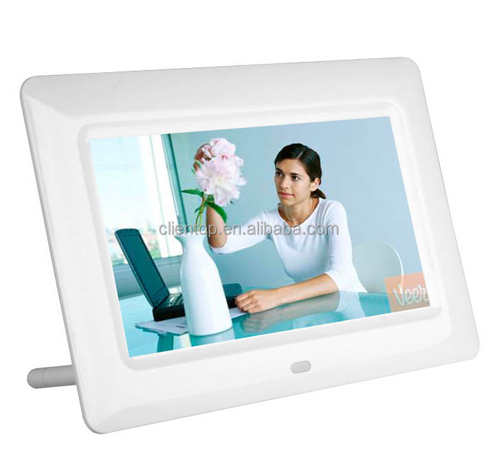 "Multifunction advertising displayer play wide screen 7"" Digital Photo Frame with remote control"