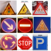 road safety solar traffic sign 3M Reflective film with LED light