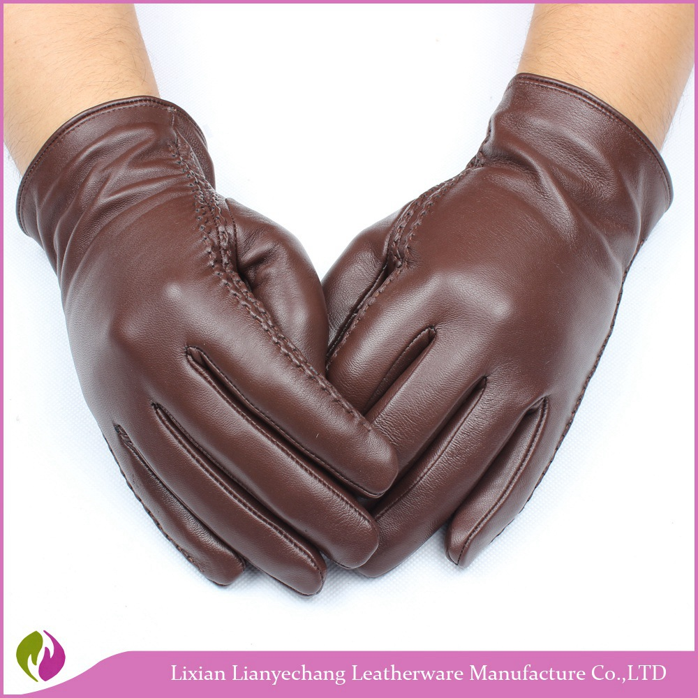 Factory custom wool lined leather gloves