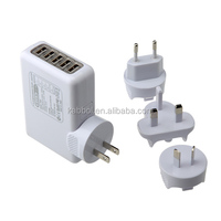High speed 25W 5V 5A 5-Port mini USB home Charger Portable Phone USB Charger for Apple iPhone 6s 6s plus Google Nexus 6 7 10