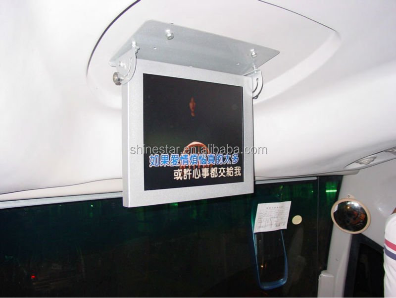 "17"" inch bus LCD wifi 3G internet digital AD media display with mounting bracket"