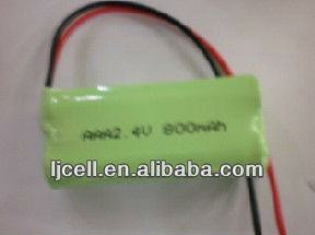 ni-mh aaa 2.4v rechargeable battery pack 800mAH