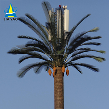15 22 25 28 35 meter Hot dip galvanised steel camouflaged palm tree gsm wifi isp antenna monopole tower