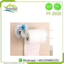 FOOYOO FY-2020 high quality bathroom holder plastic paper towel holder wall mount paperr towel holder with magic hook