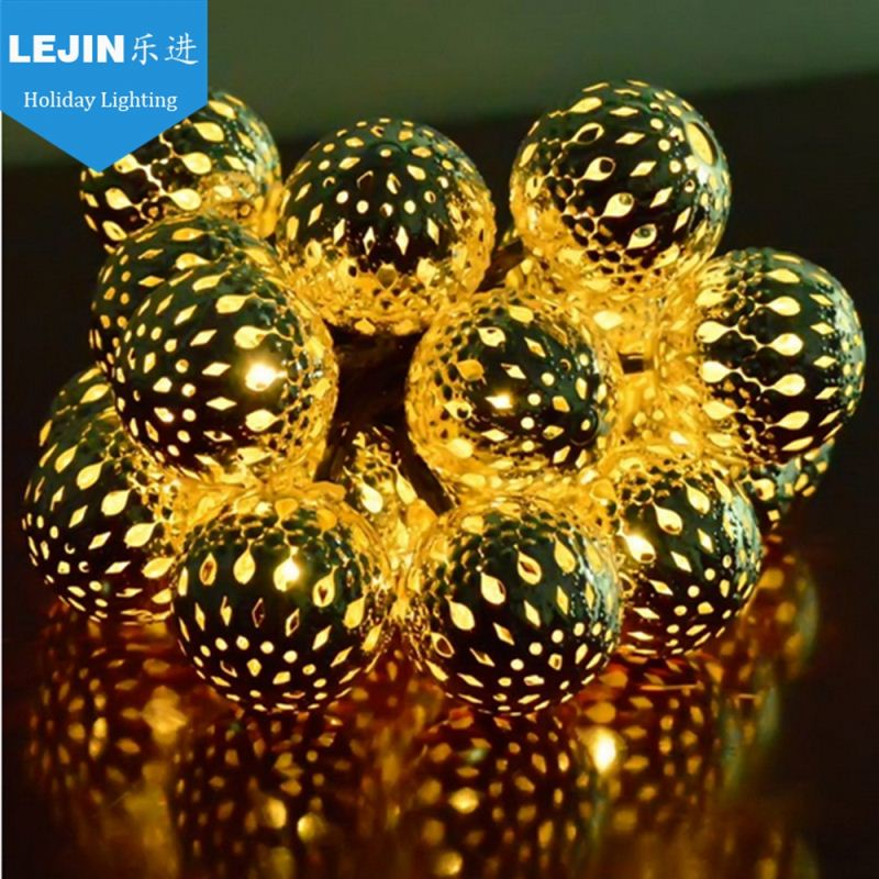 1m 10 LED Mini Metal Ball Light String LED