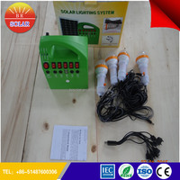 Top manufacturer mini solar system with mobile charger