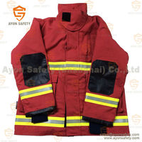 Orange Heat resistant protective safety ripstop Fireman clothing with 3m reflective stripe-Ayonsafety