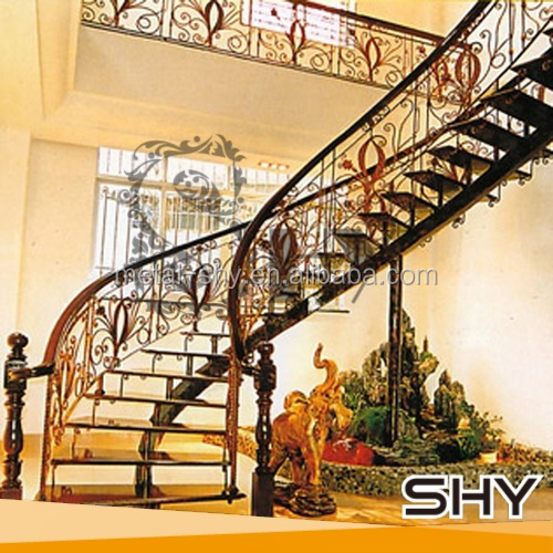 antique outdoor/indoor balcony wrought iron handrails/railing parts designs