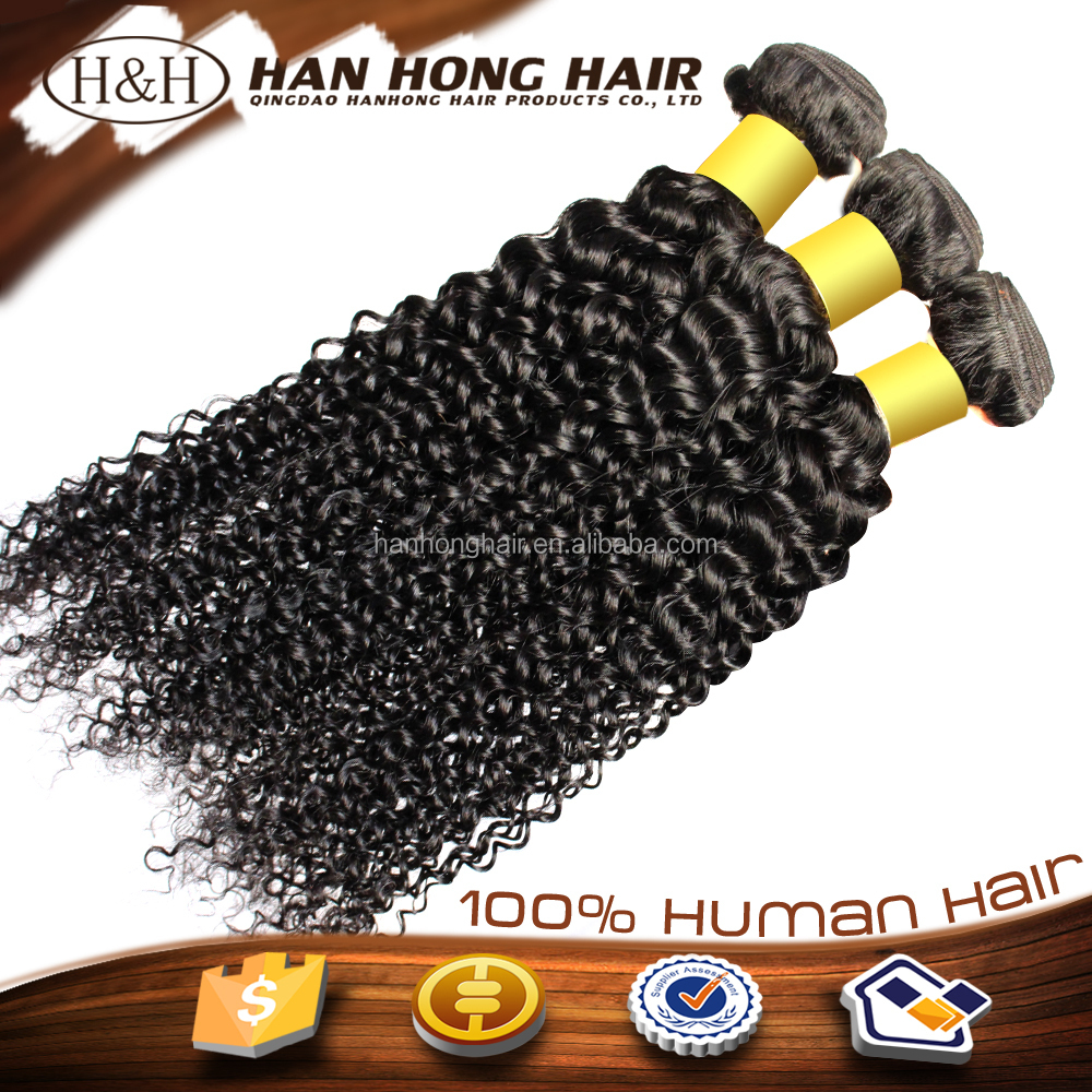 Grade 7a Mongolian human hair kinky curly hair weave 4a extensions