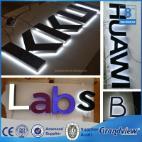 Company name LED stainless steel backlit wall sign