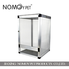 Nomo pet home display case / geometric container / with a door open clear glass display terrarium pet reptile cage