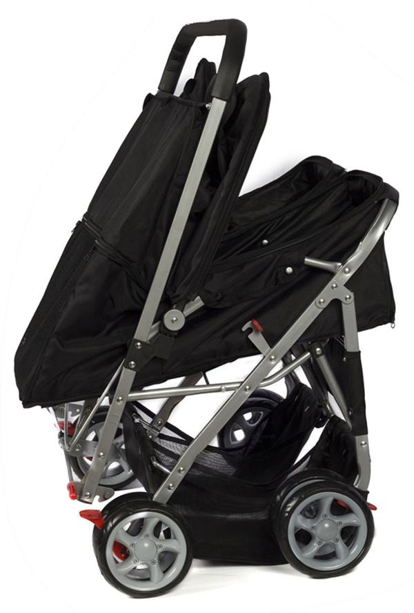 Pet Stroller 4-Wheel, Twin Carriage Black-3.jpg