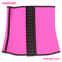 Pink Rubber latex waist training corsets