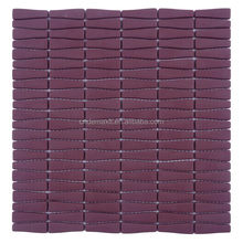 Eco-friendly mosaic Strip Lowes Glass Tile Kitchen Backsplash