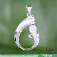 Charming sterling silver pendant bezel wholesale factory