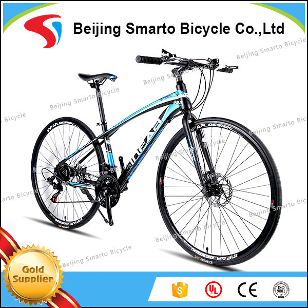 Sport racing 700c double disc brake steel cheap road bike for men