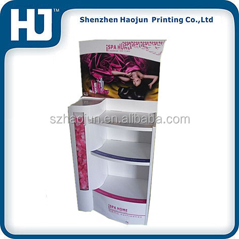Shop retail cardboard make up display stand/ cosmetic product cardboard display stands/ cardboard cosmetic display stand