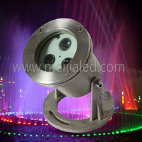 3W High power LED pool equa light waterproof IP68 multi color underwater swimming pool lights
