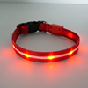 Manufacturer Supplier Best Nylon Webbing Glowing Safety Led Dog Collars Pet Reflective Nylon Dog Collar