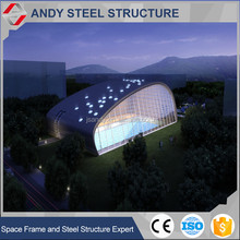 Unique Styling Prefab Steel Structure Frame Building For Swimming Pool With Large Span And Space