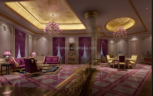 Romantic 3D Luxurious European Villa Rendering With Purple Theme