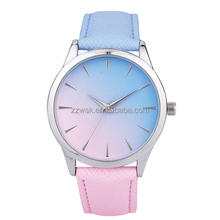 Classic fashion woman watch custom logo brand leather lady watch