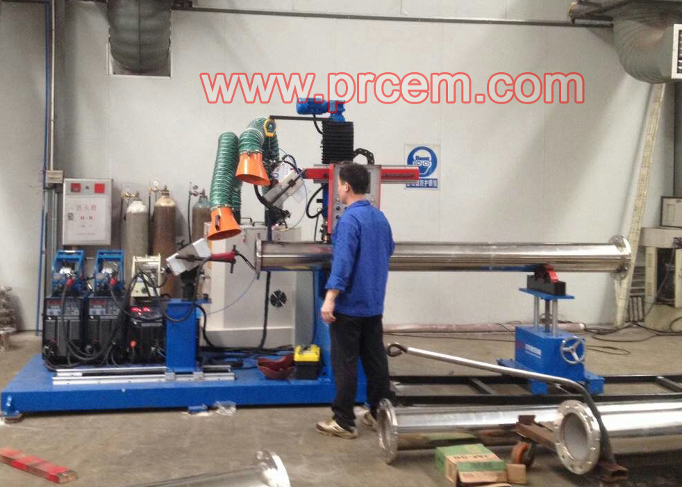 Elbow flange automatic welding machine for Prefabricated