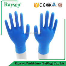 2016 Free Sample Consumed Blue Nitrile Gloves for Garage