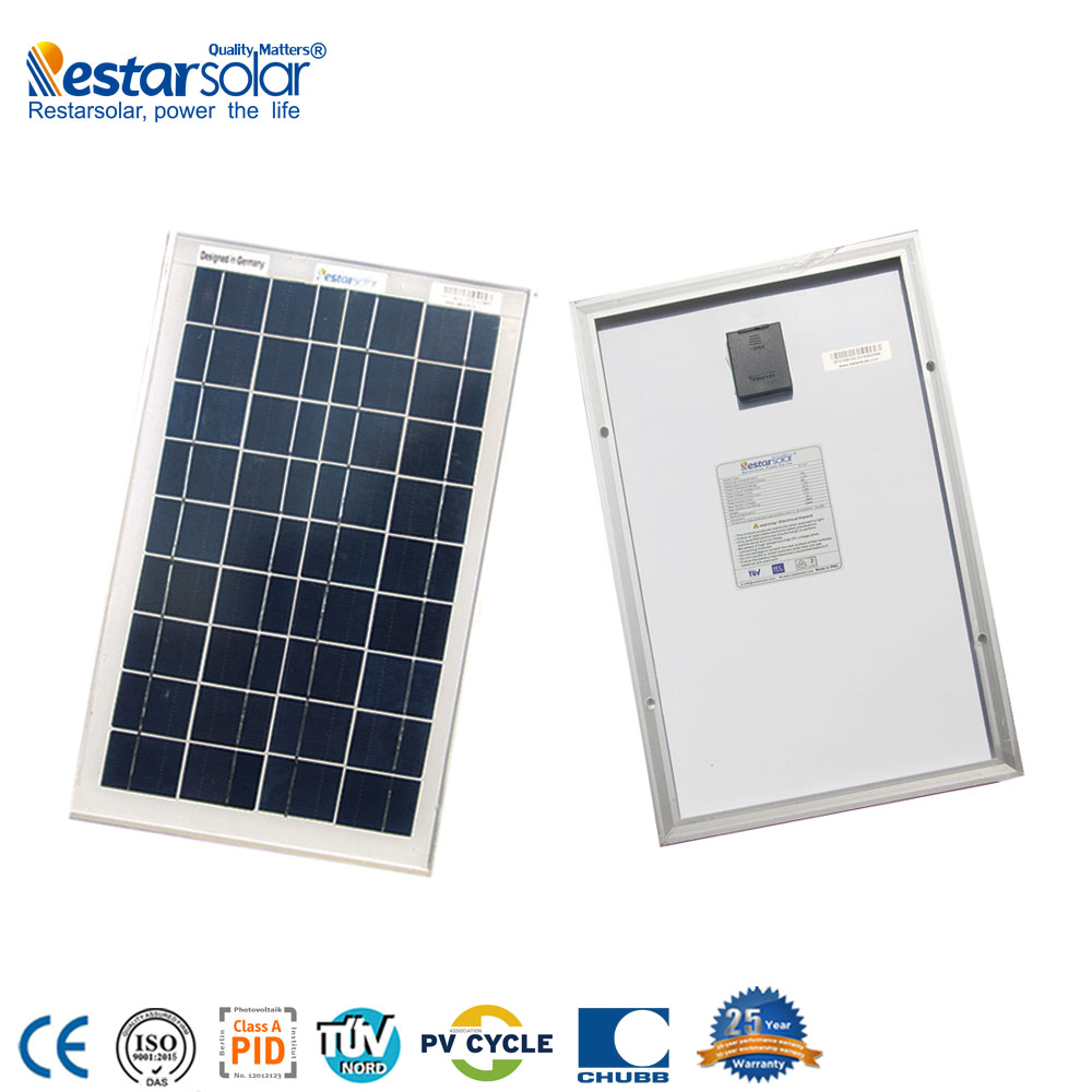 Restar high quality <strong>poly</strong> 12v 10w solar panel price-factory directly sales