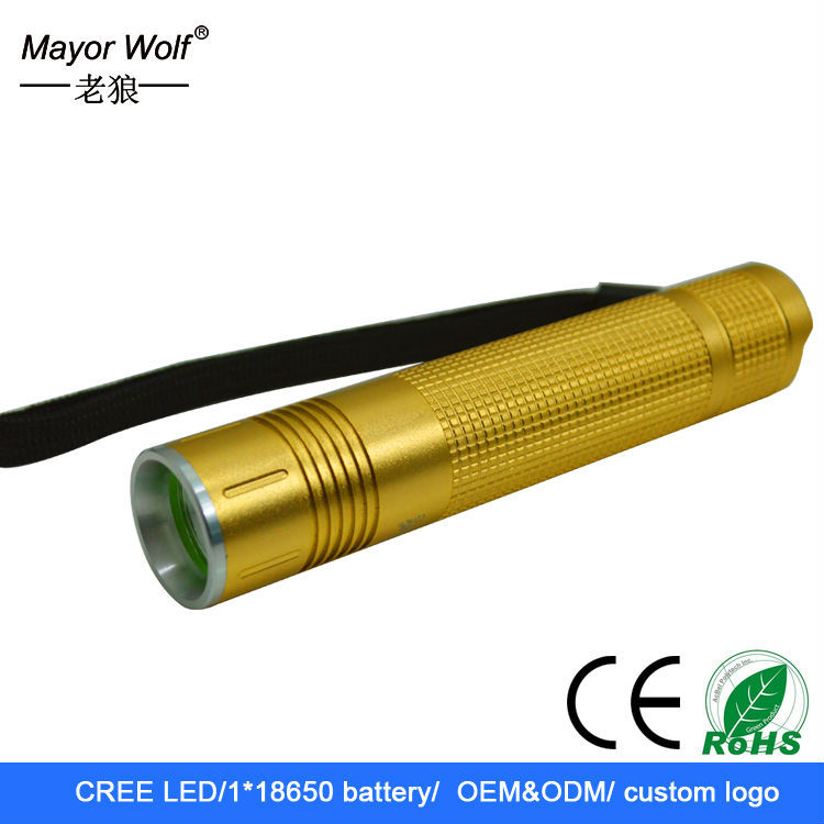 high power rechargeable waterproof mini 2000 lumen flashlight