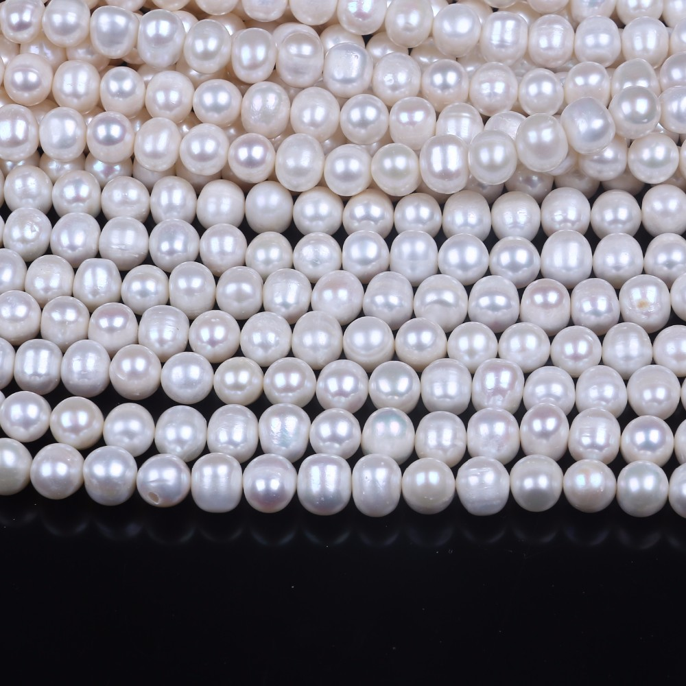 11-12mm Cultured Freshwater Pearl Loose Strand DIY Necklace Jewelry Making