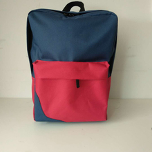 SANPOINTS qualified 600D/polyester blue and red square school kids backapck bag