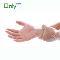 2016 Hot Sales top quality transparent disposable vinyl gloves for industry