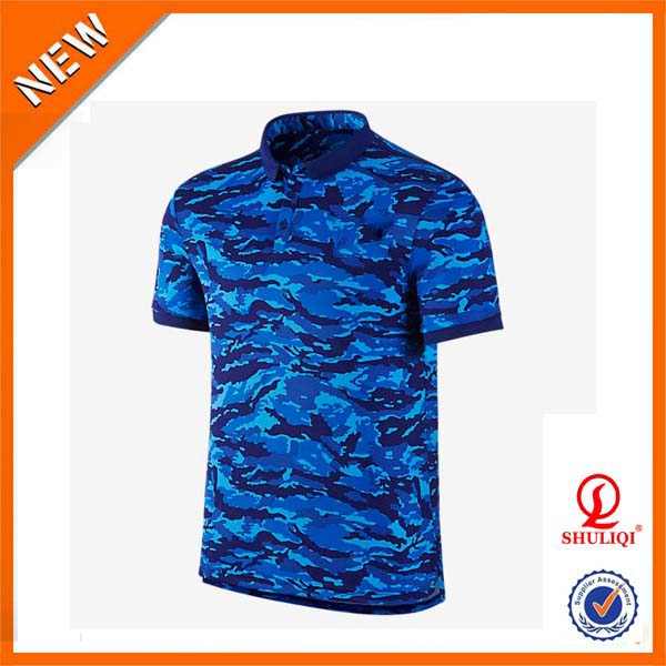 Oem service top quality camo polo t shirts wholesale Bulk quality t shirts